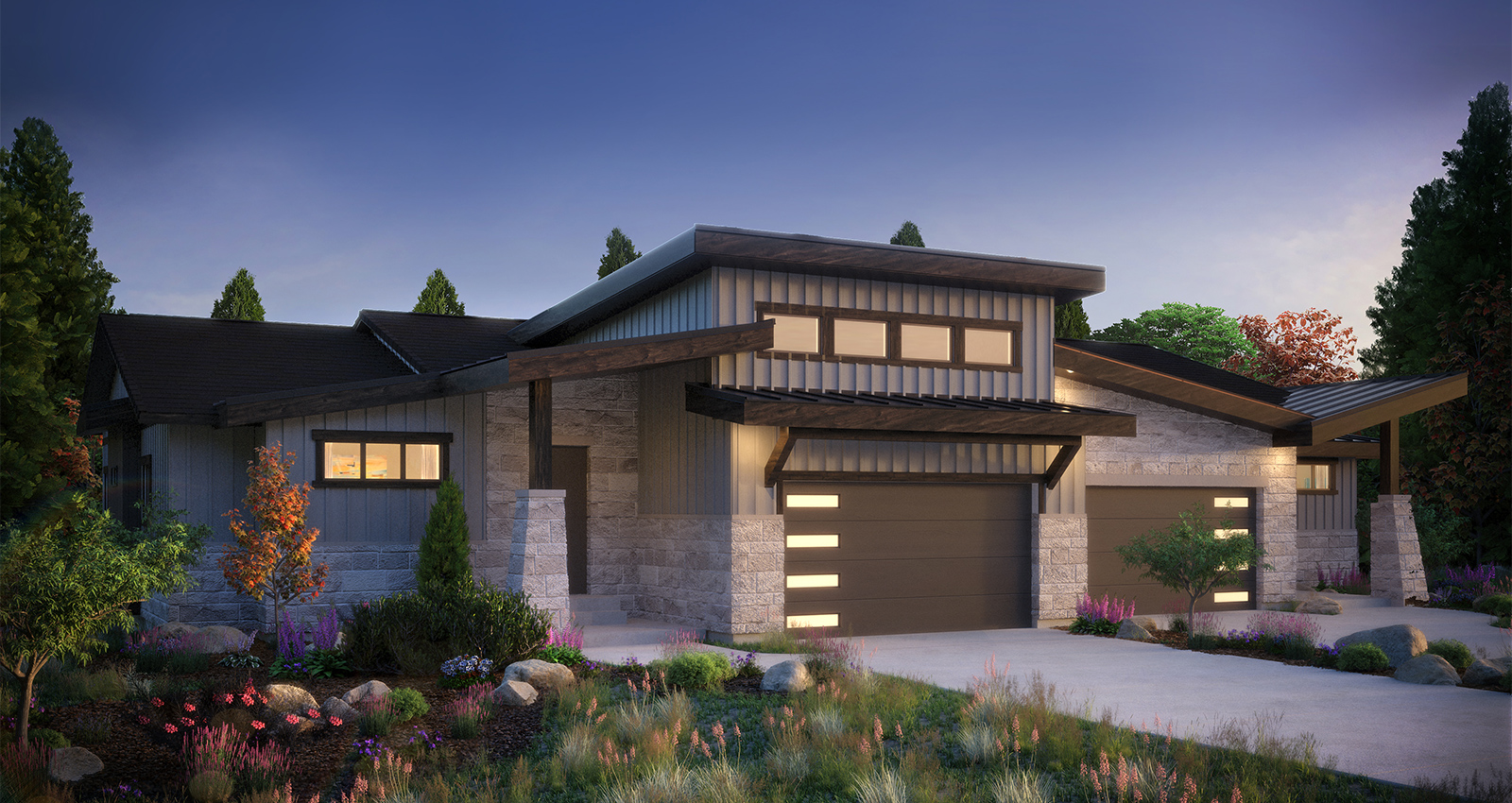 two-story gcd luxury townhome