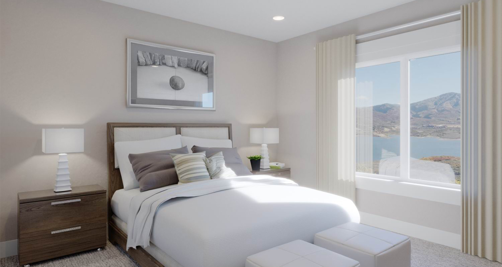 green construction makes a mountain view bedroom luxury