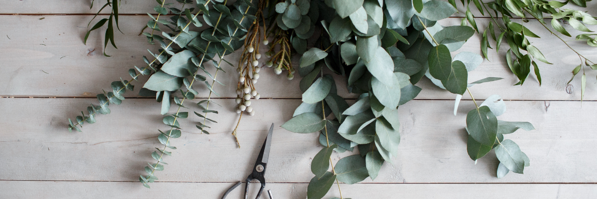 wreath made from eucalyptus