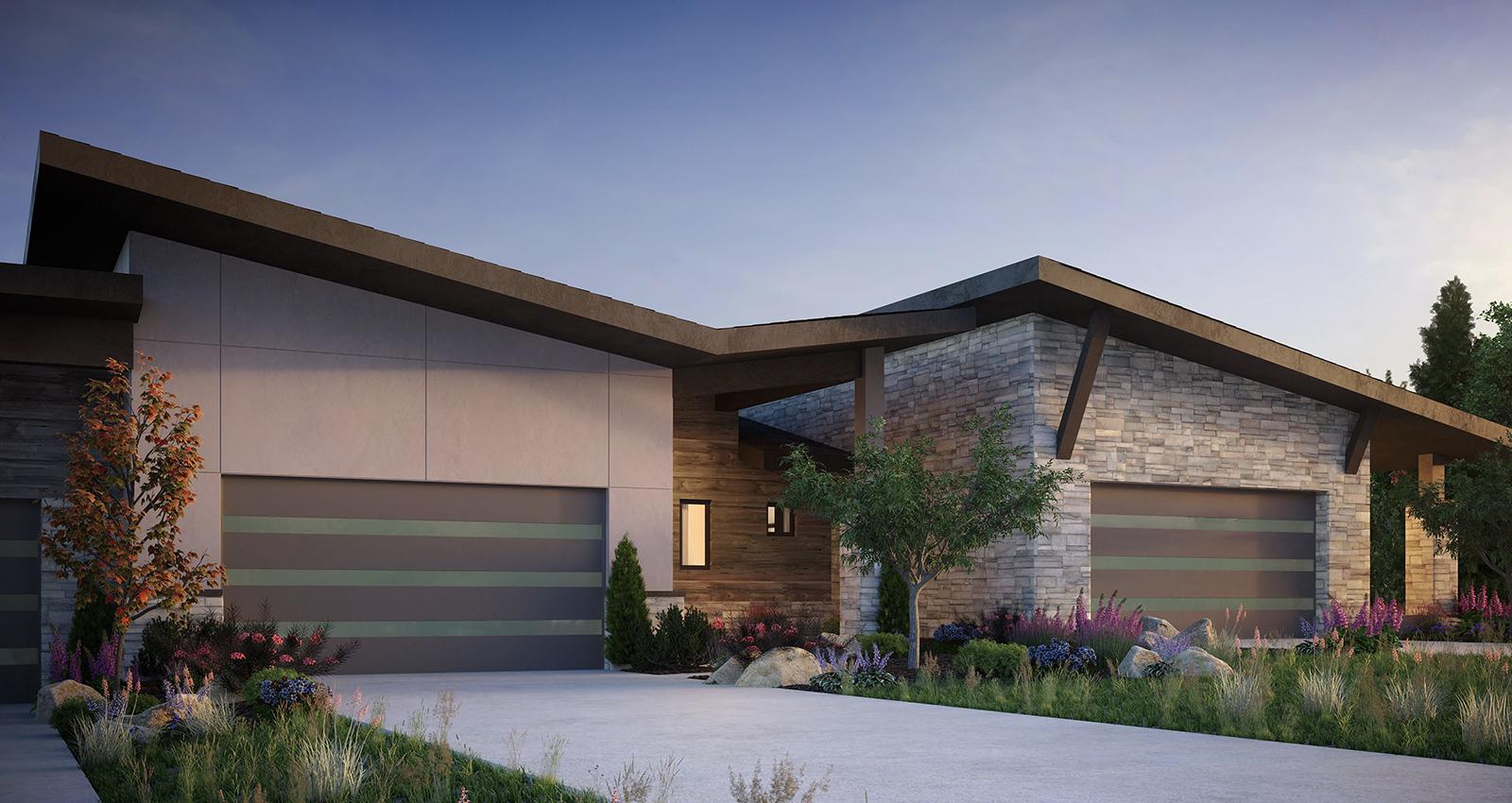 mountain real estate green construction