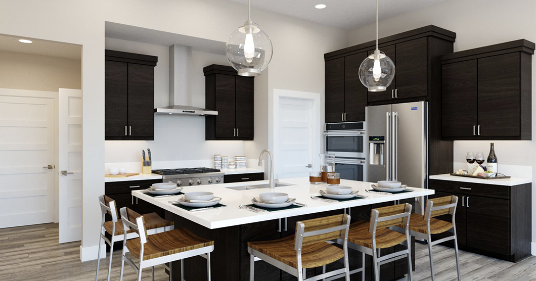 Open floorplan kitchen for entertaining