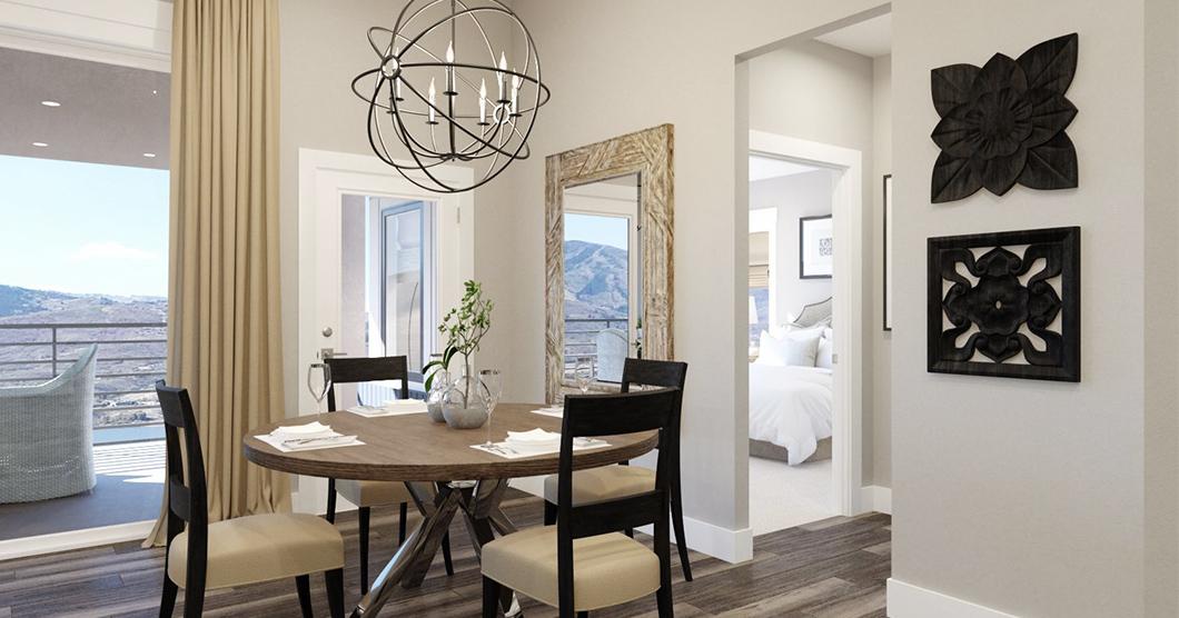 Dining room luxury condominium