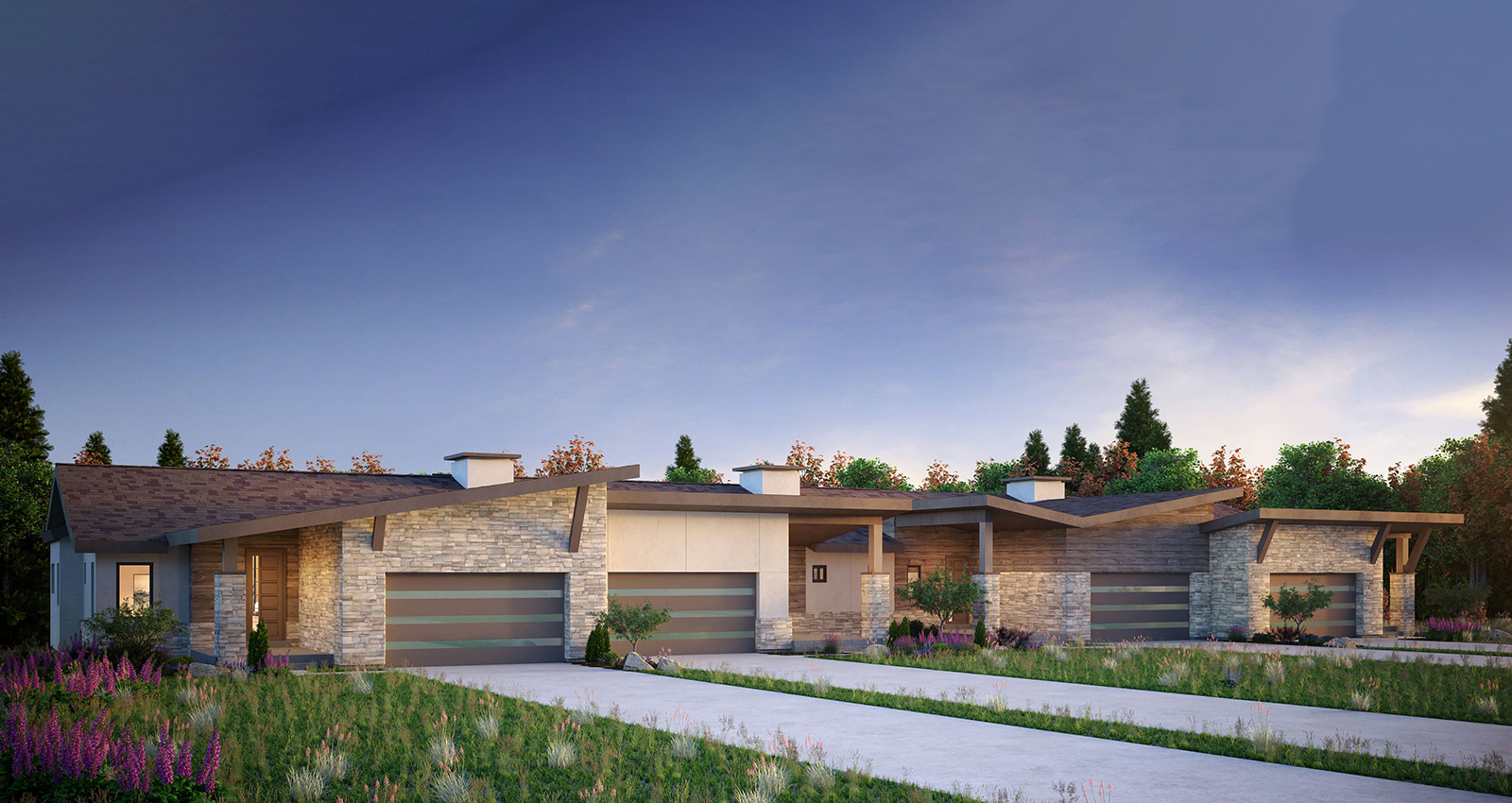 gcd green construction townhomes with mountain views