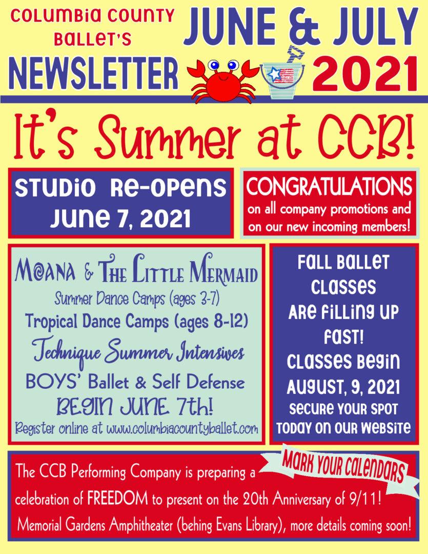 CCB - June:July Newsletter 2021
