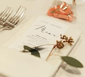 Place Setting at La Ventura San Clemente Wedding Venue