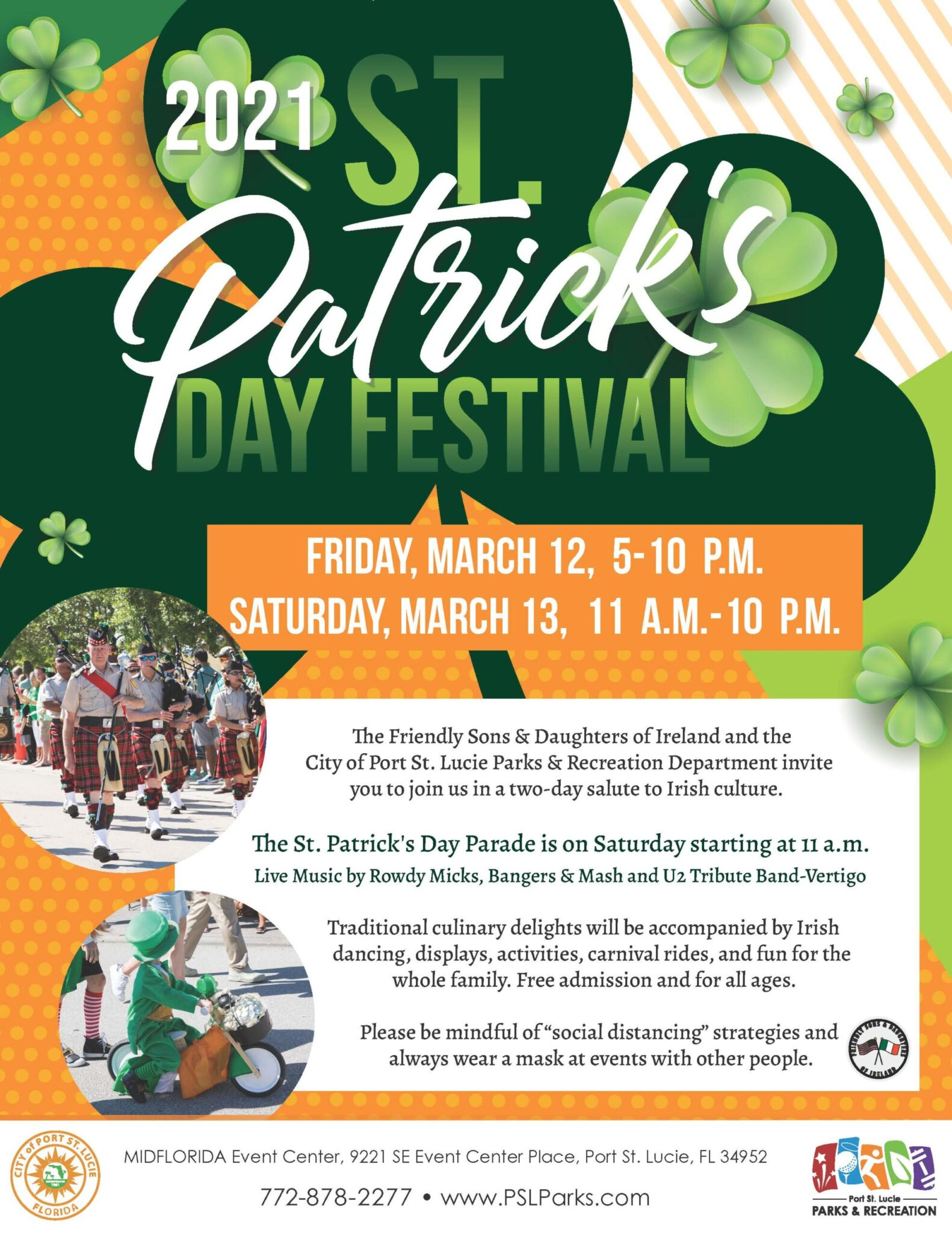 Port St. Lucie St. Patrick's Day Parade 2021