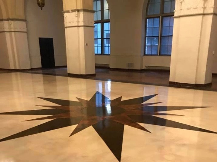 epoxy floor office Concrete Coatings CSI