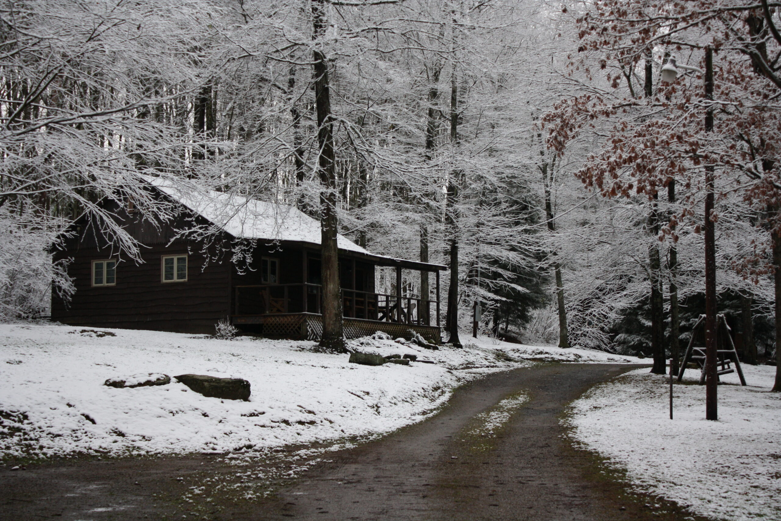Whispering Oaks Cabin 5 Winter