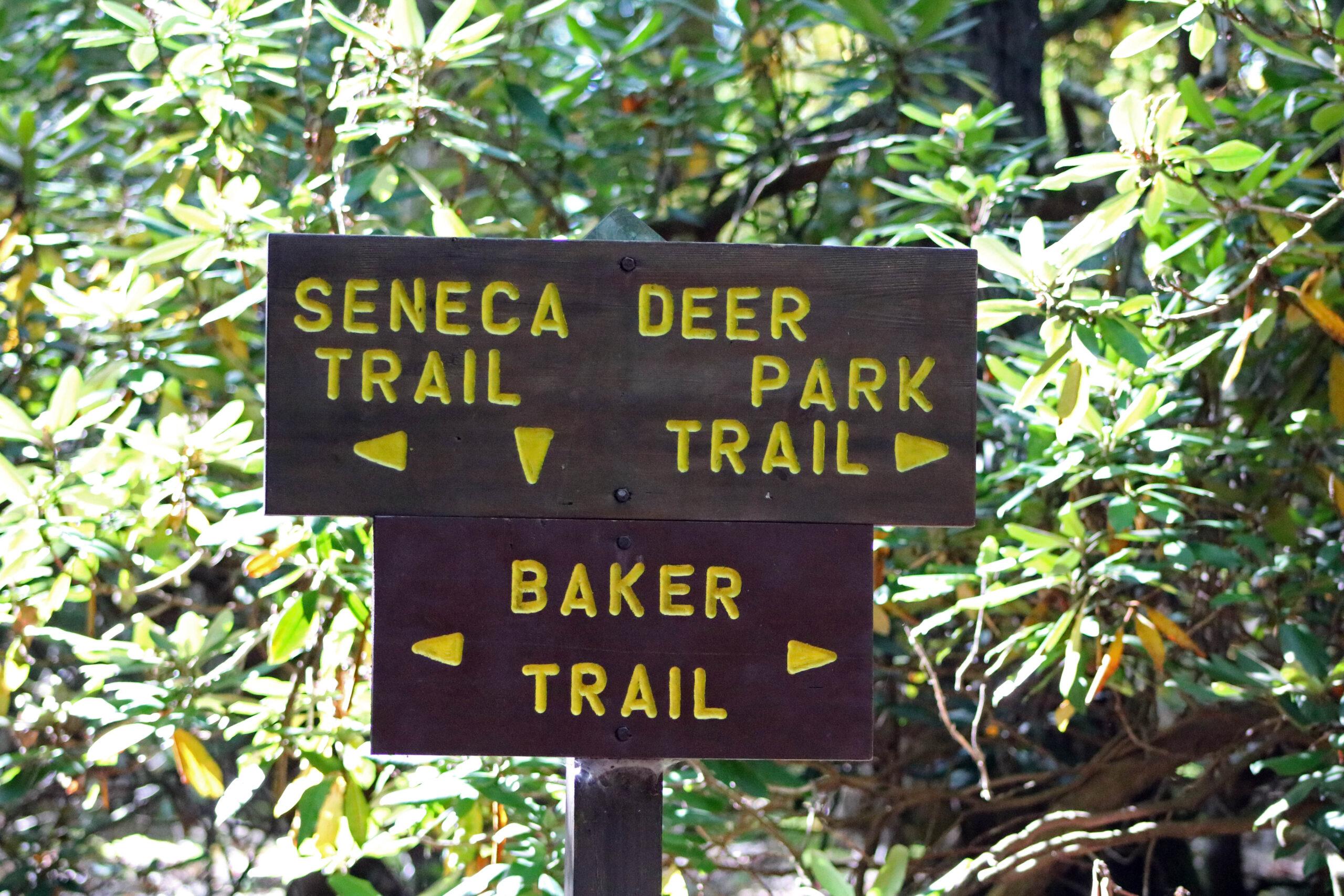 Seneca Trail Sign (Deer Park and Baker)