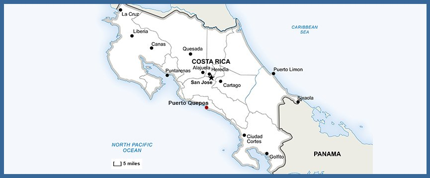 Costa Rica Map Tips: One Inch Does NOT Equal Five Miles