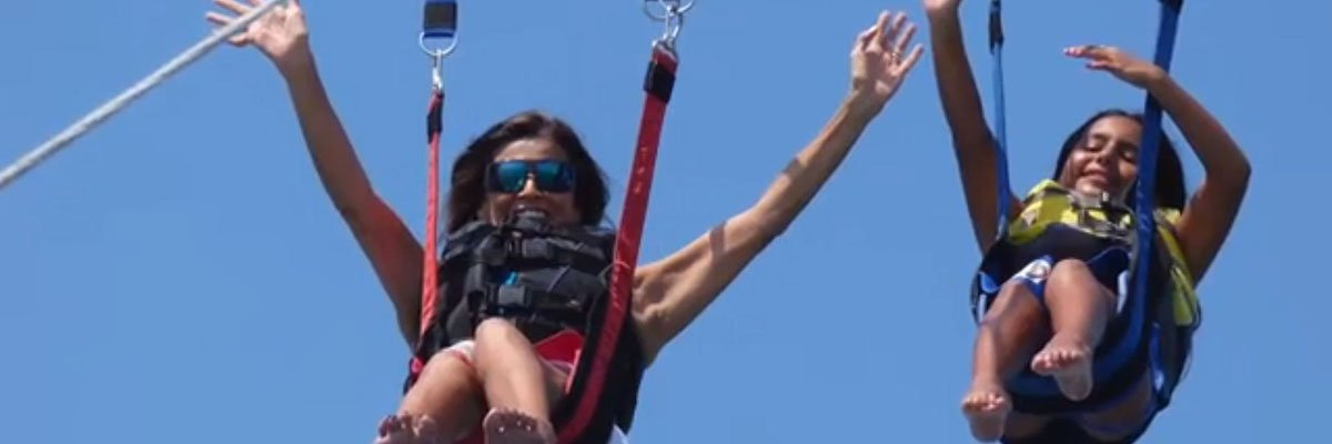 Evelyn parasailing