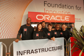 Event Staff at Oracle Open World 2015 in San Francisco.