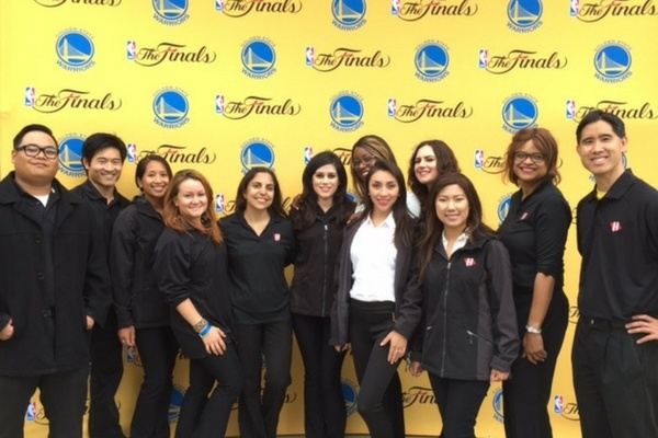 Event Staff at Warriors NBA Finals event in San Francisco