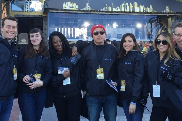 Brand Ambassador program with Uber at Super Bowl 50 in San Francisco