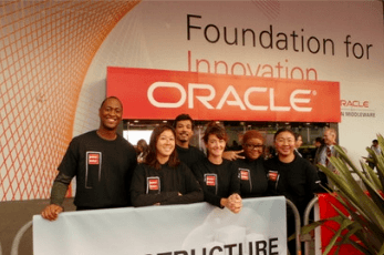 Kinetic Events' convention staff at Oracle Open World in San Francisco