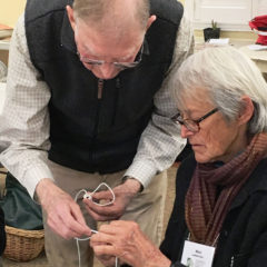 Jerry and Mimi making knots