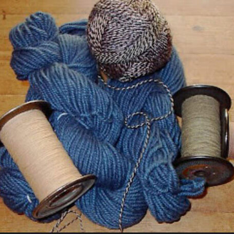 Handspun yarns by Stephenie Gaustad