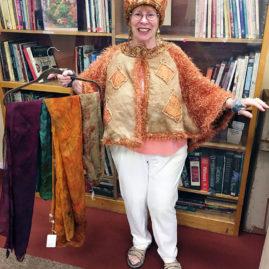 Sharon Cahn - wrap, hat & scarves