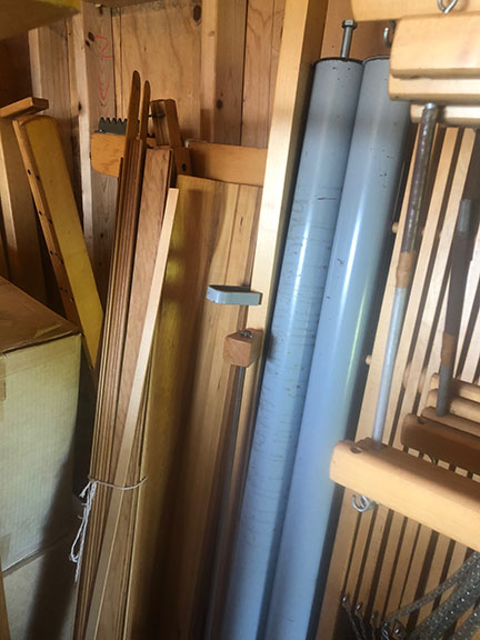 Ahrens and Violette mechanical dobby loom