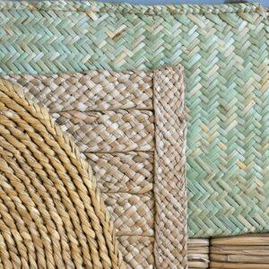 Mats woven by Charlie Kennard