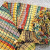 Chenille made from fabric strips