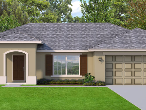 Warm Tone single story Piccolo Model home