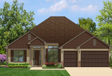 Exterior image of a chestnut and warm single story Barbaroa Home