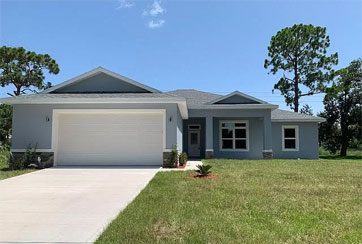 Exterior Image of a Single-Story Home: 766 MERRIMAC STREET SE, PALM BAY, FLORIDA 32909