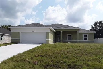 Exterior Image of a Single-Story Home: 1277 BUFFING CIRCLE SE, PALM BAY, FLORIDA 32909
