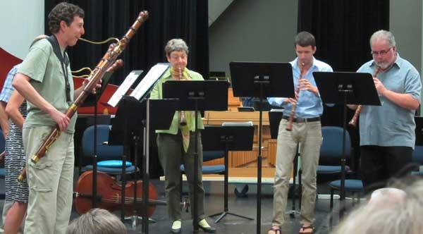 Chamber music for winds at the 2013 Baroque Workshop.