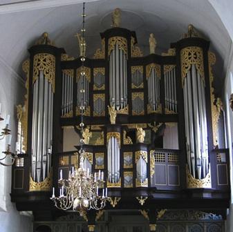 German baroque organ crop