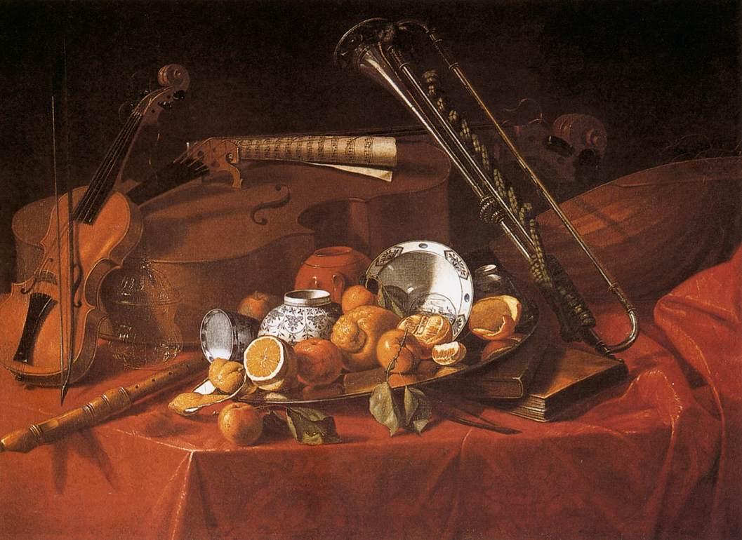Cristoforo Munari (1667–1720) Still-Life with Musical Instruments (ca. 1710)