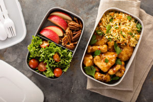 two boxed lunches