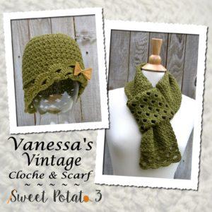 Vanessas Vintage Cloche & Scarf