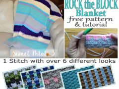 Rock the Block Free Blanket Pattern