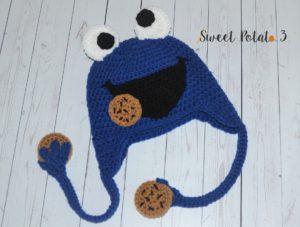 Cookie Monster Frog Hat