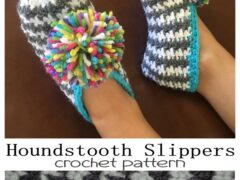 houndstooth Slipper free crochet pattern