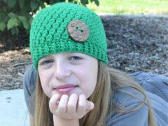 Emerald Stone Crochet Hat Pattern