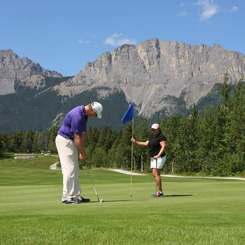Brewster's Golf, Kananaskis Ranch - Golfers enjoying golf.