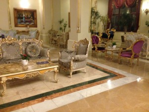 Lobby or ornate chairs