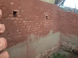 Brick upper walls of Troy 2