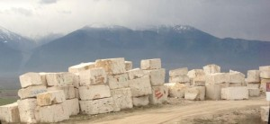 marble with mountains