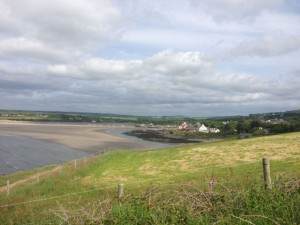 Newport at low tide