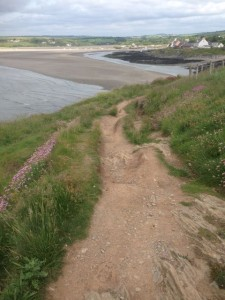 Walking path with Nervier at low tide