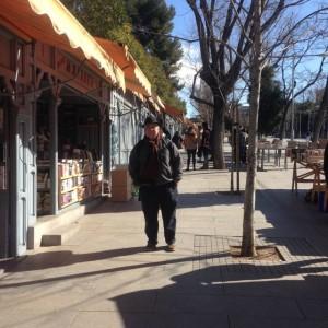 booksellers on the edge of El Retiro park