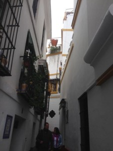 Old Jewish quarter with narrow winding streets