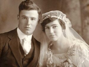 James Peters and Grace on wedding day
