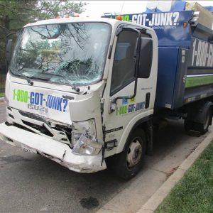 1-800-Got-Junk Truck Damage