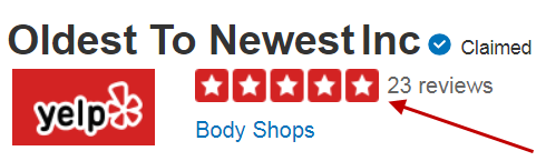 Oldest to Newest on Yelp