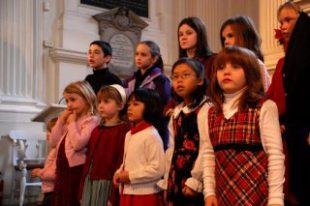 Children's choir performing